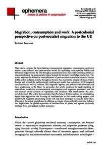 Greenwich Academic Literature Archive - Migration