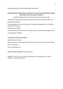 executive function autism pdf