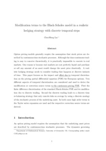 Basic black scholes option pricing and trading pdf